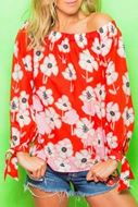 Bilde av Emily ES5603 Off Shoulder Flower topp