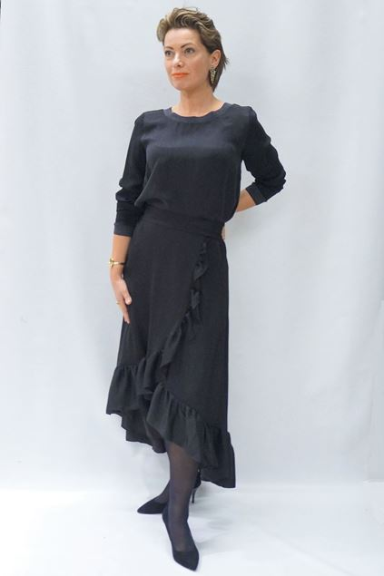Bilde av Alix long flared skirt
