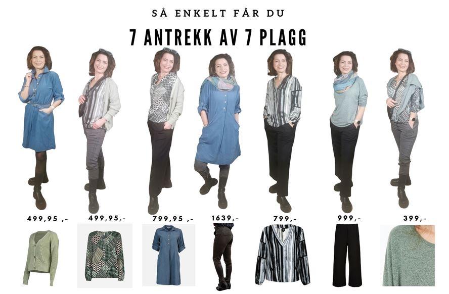 7 Antrekk Av 7 Plagg - Blå & mint