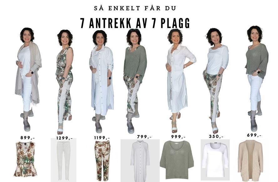 7 Antrekk Av 7 Plagg - Hvite Jeans